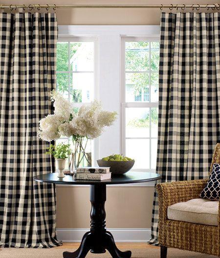 P Kaufmann Buffalo Check Curtains Living Room Home Decor