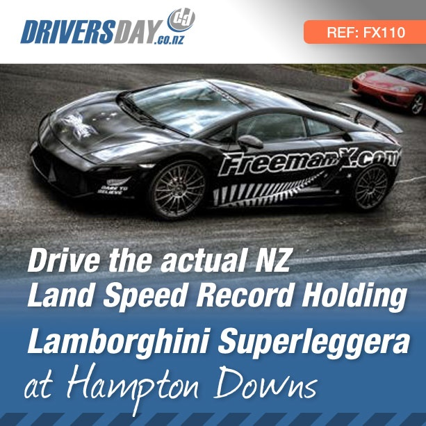From $499, driving the Lamborghini Superleggera – NZ Speed Record Holder at Hampton Downs is a great gift for men or women. While the record was set with this car tuned up at 1500hp, you get to drive it dialed down to a still thundering 650hp, making it the most powerful driving experience on the NZ market.