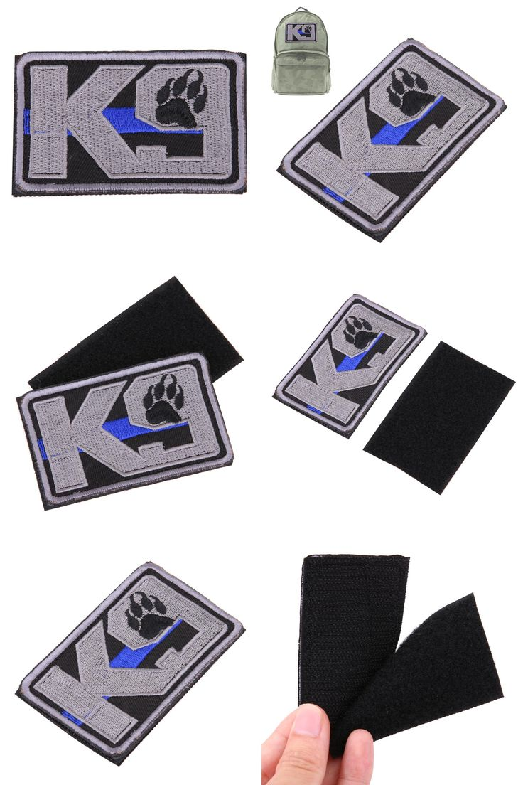 [Visit to Buy]  K-9 POLICE THIN BLUE LINE Embroidered Morale Tags Patch ARMY MILITARY MORALE PATCH  Clothes Decorating #Advertisement