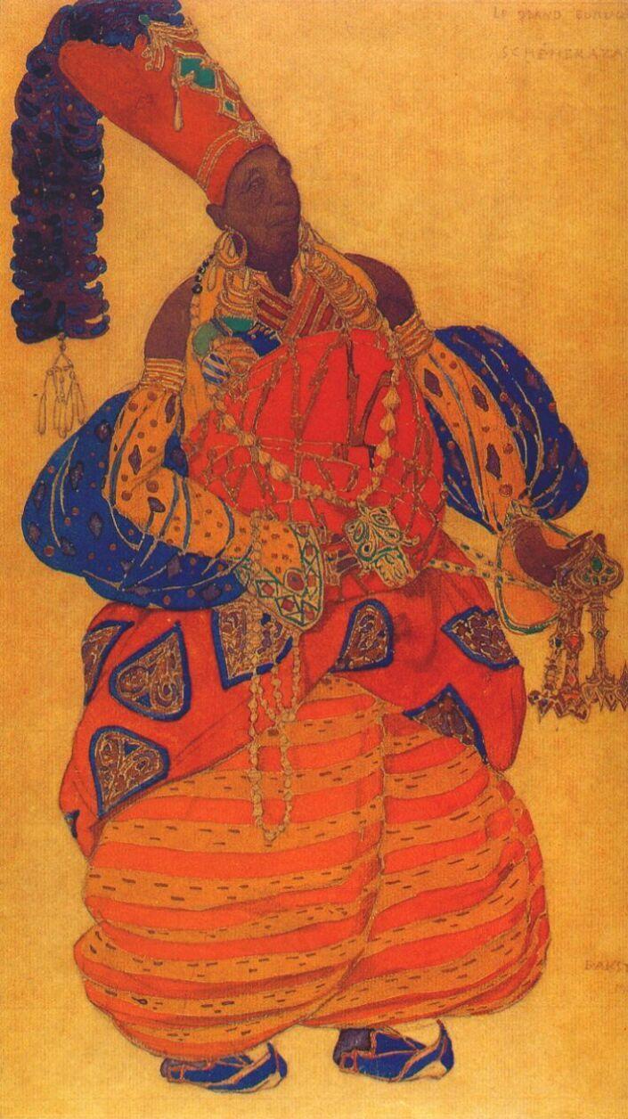 """Leon Bakst: Scheherazade, """"The Chief Eunuch,"""" 1910"""