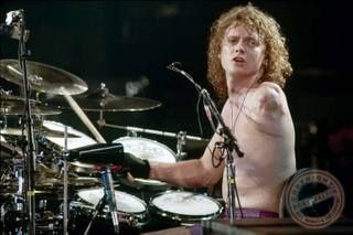 """The """"drummer from Def Leppard"""" (Rick Allen) lost his arm in a street racing accident. Description from genius.com. I searched for this on bing.com/images"""