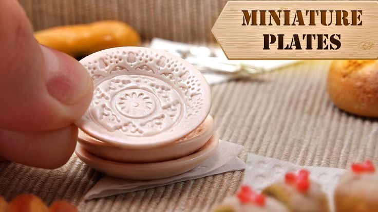 Miniature Vintage PLATES (Polymer Clay) - YouTube