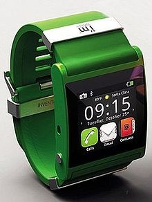 "Another view of the ""i'm"" watch, from the Wikipedia article on wearable computing."