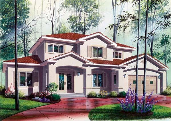 House Plan 64984 | Florida Plan with 3016 Sq. Ft., 6 Bedrooms, 5 Bathrooms, 2 Car Garage at family home plans