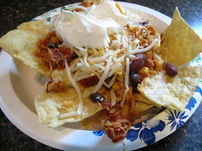 Chicken Taco Chili  Can be served over rice or as Nachos.  Yummy and Low cal!