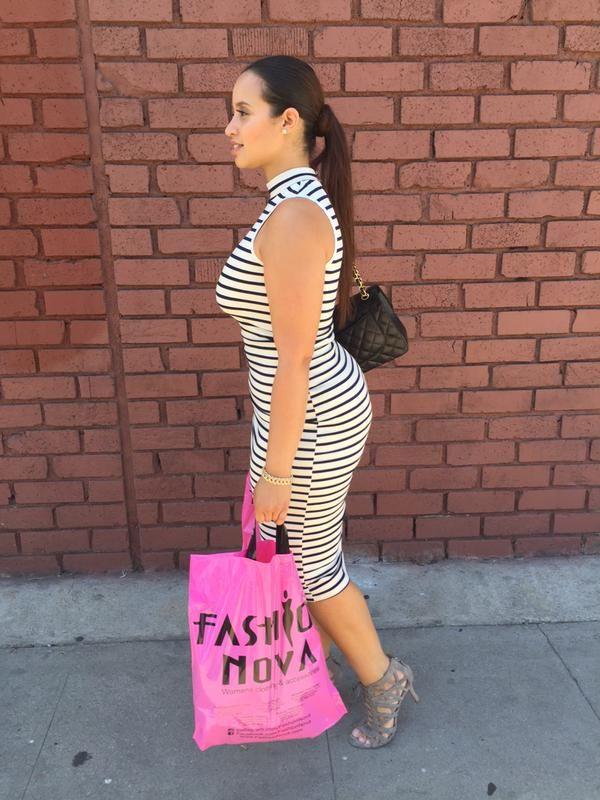 Dascha Polanco visiting Fashion Nova