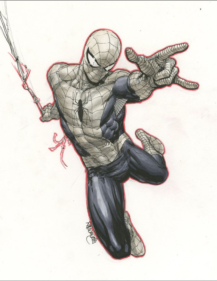 224 best character pose dynamics images on pinterest - Dessin spiderman ...