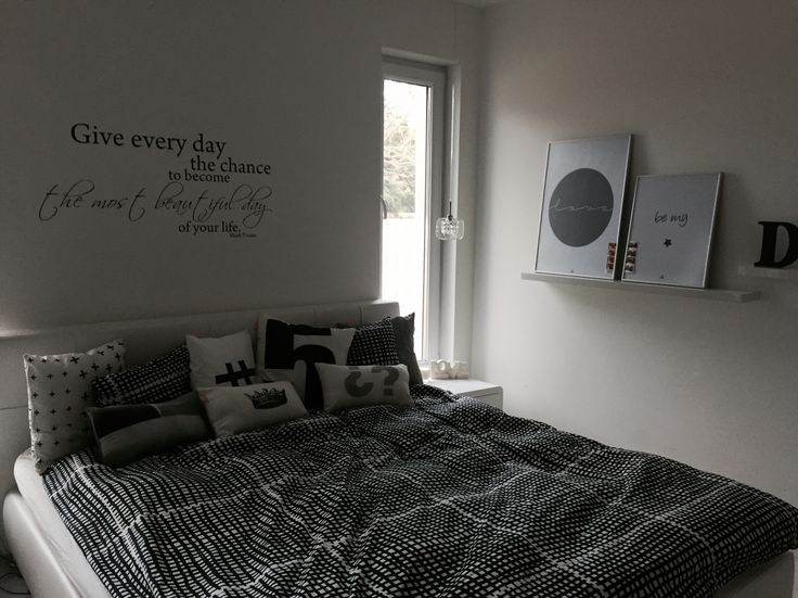 #home decor #black and #white #house #room #bedroom