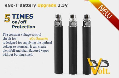 These are 1100mAh eGo-T batteries equipped with on-off protection. They Can be fully charged from empty in 2.5 hours using a eGo-T fast USB charger, and can provide a heavy user with more than hours of vaping pleasure!!!