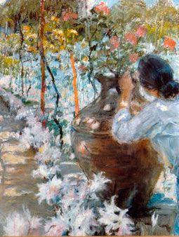 Primavera (1933). José Malhoa (1855-1933). Pastel sobre papel (30 x 23 cm). Museu José Malhoa, Caldas da Rainha.
