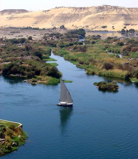 Le Nil, Assouan, Egypte