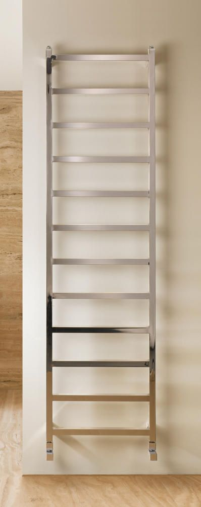 MHS Climber 1800mm x 350mm Polished Stainless Steel 829 BTU Towel Radiator