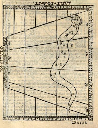 Gravure constellation de l'Hydre 1605/ Engraving Constellation of the hydra 1605