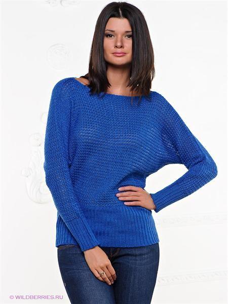 Купить синий вязанный свитер