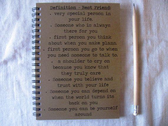 Definition Best Friend 5 X 7 Journal More Best Friends