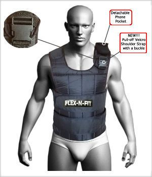 Weighted Vest : 20Kg Adjustable weighted vest - perfect for your crossfit training and workouts to build strength and muscle.  - Refisio.com.au
