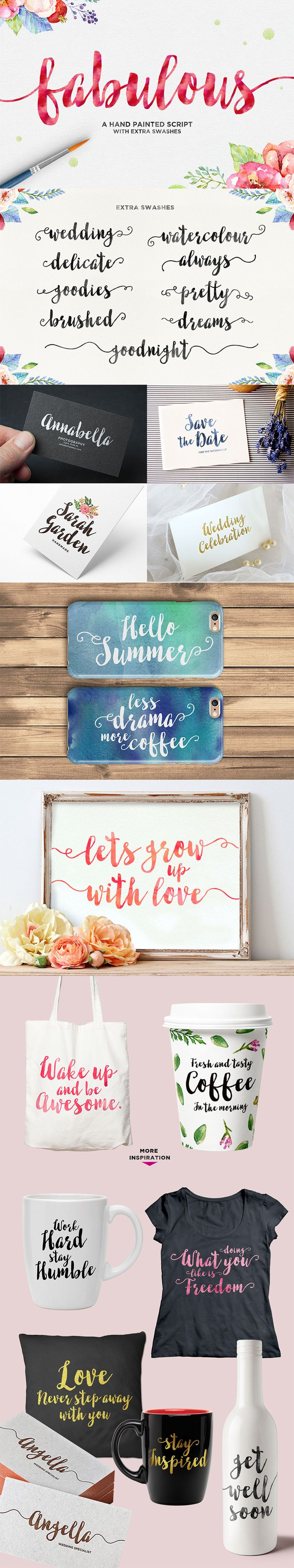 LOVE this hand painted script font that