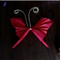 Pliage de serviette Papillon  Pliage de serviette - Loisirs créatifs