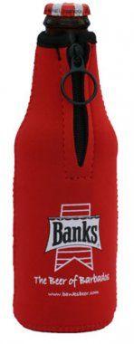 Banks Neoprene Bottle Koozie - to Keep Your Beer Cold! #Caricraft #Caribbean #Shopping #BeerGear #IslandGear
