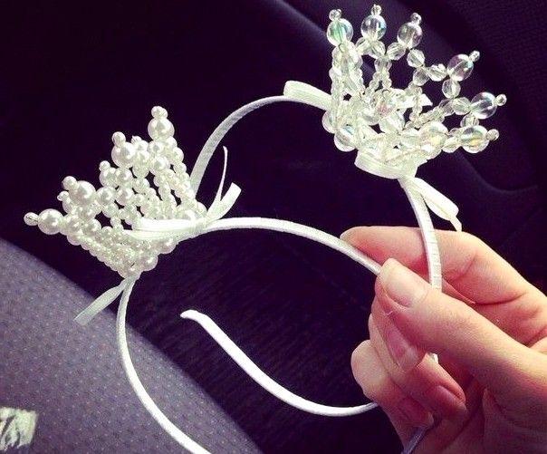 Корона принцессы из бусин своими руками