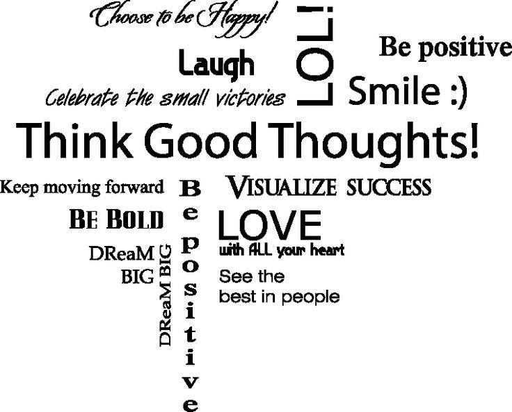 Baby Boo Decor - Be Positive, $39.40 (http://www.babyboodecor.com/i-278-be-positive/) #decor #kidsroom #wallart #vinylwall