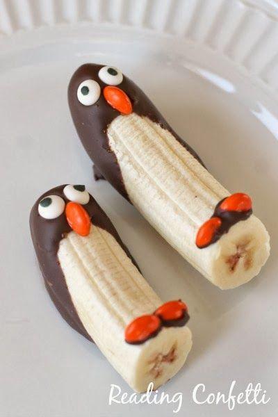 Kindertraktaties: Pinguin banaan