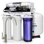 5-Stage 100 GPD Reverse Osmosis Water Filtration System with Booster Pump 3.2 Gallon Tank and Brushed Nickel Faucet, Multi-Color