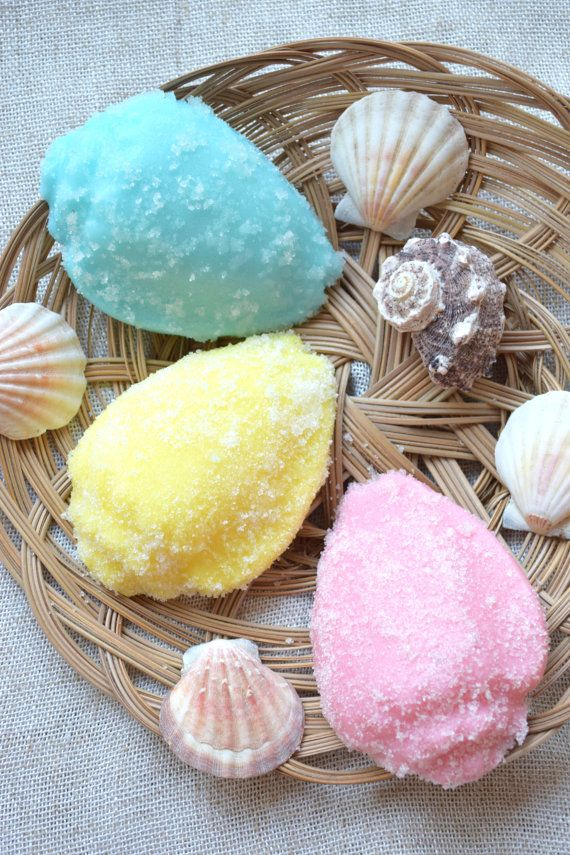 Sugar Scrub soap Body scrub Face peeling Seashell soap Beach Wedding Favor ocean bridal shower beach party favor Valentine gift for her