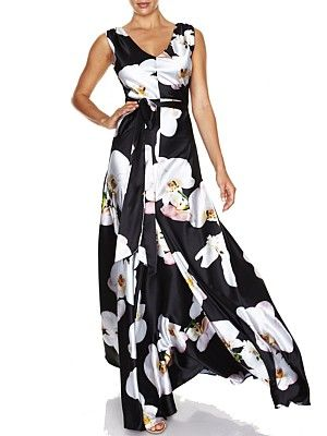 Serenity Orchard Print Gown | Montique Mobile