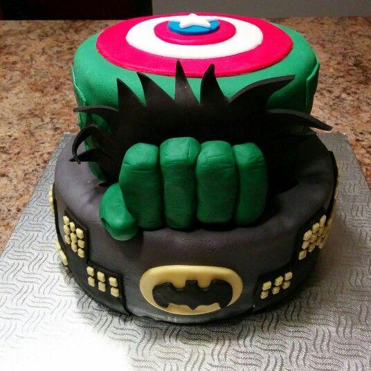 Super heros cake - gateau super héros