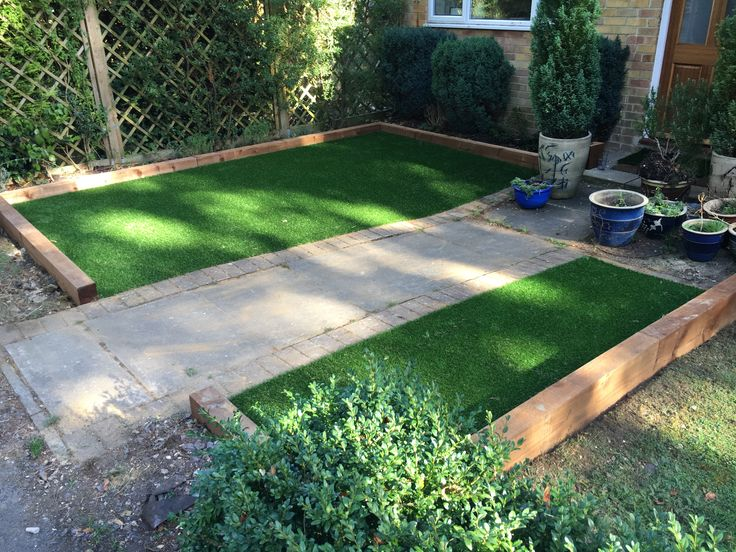 Making a small space beautiful with green grass all year round