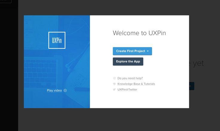 UXPin splash screen