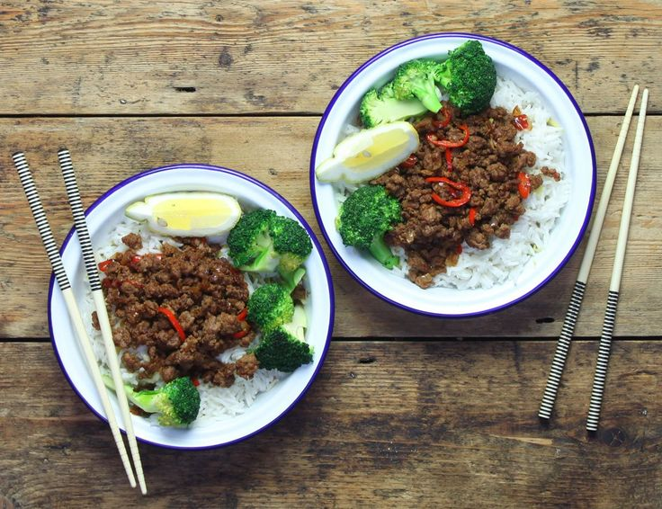 Thai Fried Beef with Sticky Coconut Rice Recipe | Abel & Cole