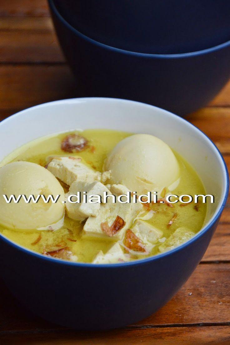 Opor Kuning Tahu & Telur