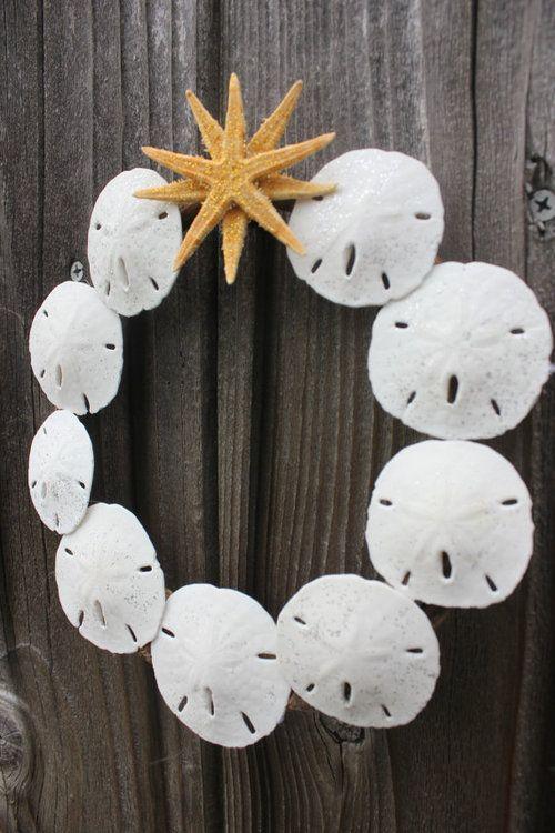 sand dollar wreath.cute for the breezeway!