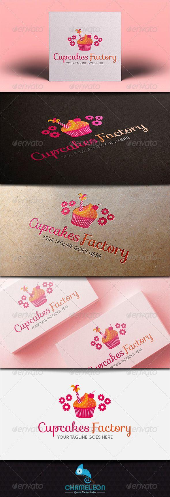 Cupcakes Factory - Logo Template