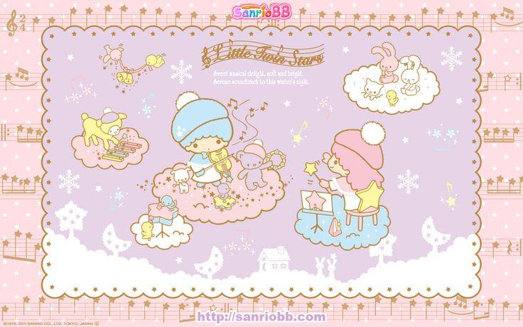 Little Twin Stars Wallpaper 2011 十二月桌布 日本 SanrioBB Present