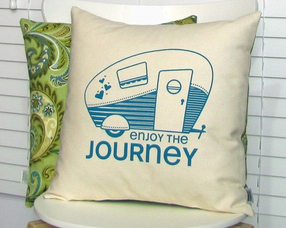 i MUST make this pillow. my love for retro travel trailers is so great.