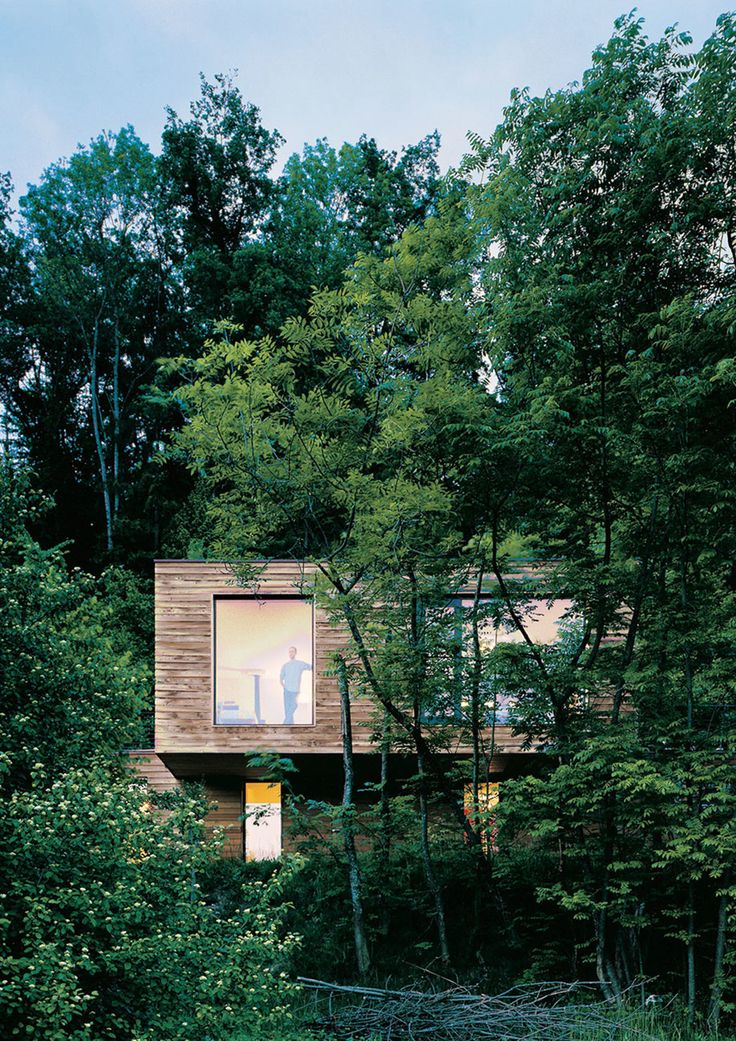 #‎Architecture in #‎France - #WoodlandHouses by A+ Samuel Delmas. ph Jean-michel Landecy