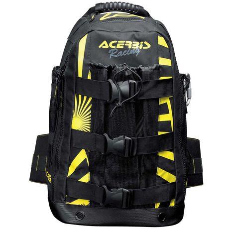 Τσάντα πλάτης Shadow από την εταιρεία Acerbis με χωρητικότητα 38 λίτρα και βάρος 1.27 κιλά. Διατίθεται σε μαύρο και φωσφοριζέ κίτρινο χρώμα για μεγαλύτερη ασφάλεια στον δρόμο. Είναι κατασκευασμένη από πολυεστέρα 600D, ενισχυμένο και αναπ...