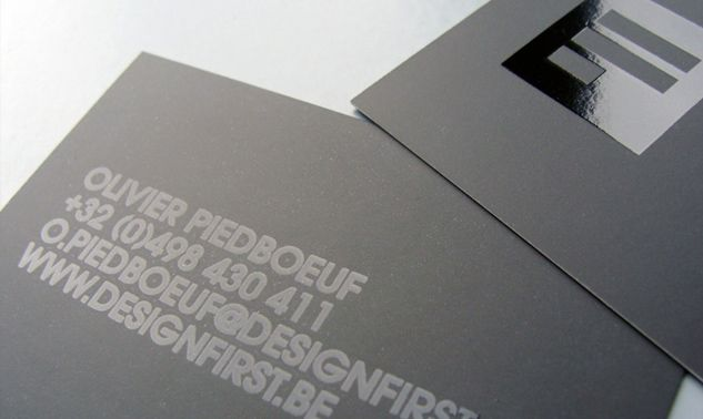 Simple minimalist business card, black on black effect with coated mate and UV finish. http://www.bce-online.com/en/shop/business-cards/business-cards-premium.html