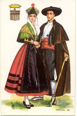 Fundación Joaquín Díaz - Colección de Grabados de Trajes - Dibujo de Elsy Gumier - Segovia pareja