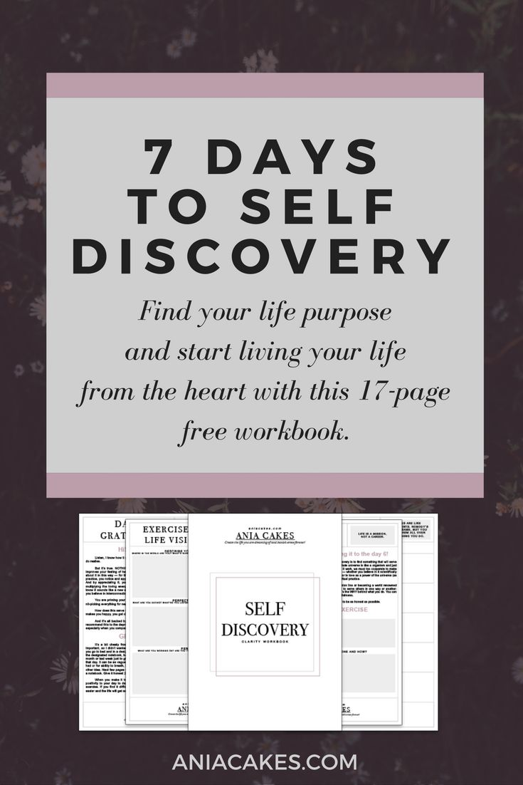 7 days to self discovery challenge. With free workbook to make it easier for you to start living your life from the heart.