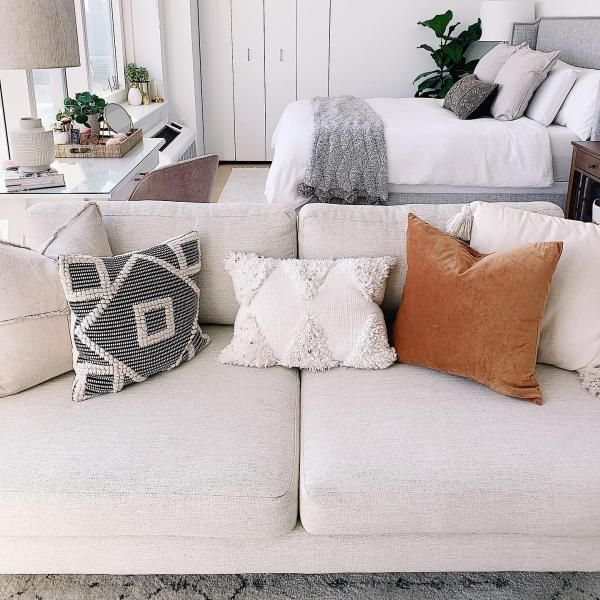 Diamond Square Throw Pillow Black Cream Opalhouse White Couch Pillows Throw Pillows Living Room Beige Couch Pillows