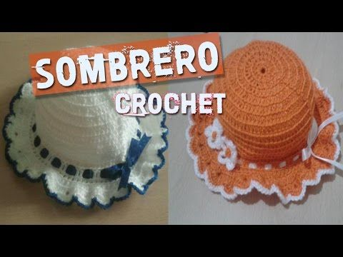 Sombrero de niña a Crochet - YouTube