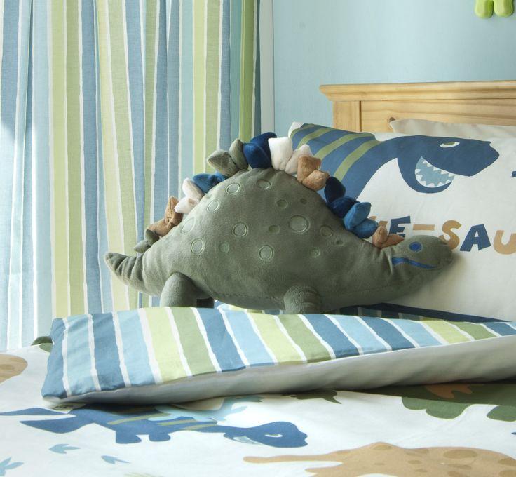 "Catherine Lansfield ""Sleep"" Coussin en forme de dinosaure Dino - multicolore"