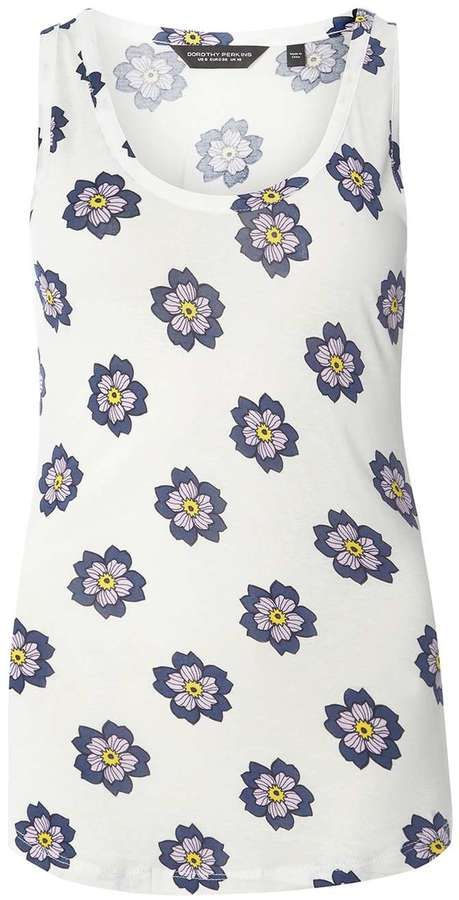 White And Purple Floral Vest