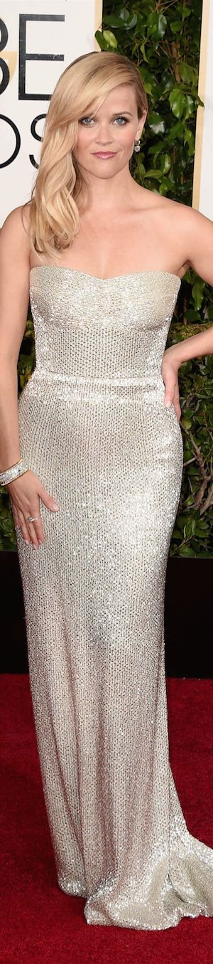 Reese Witherspoon in Calvin Klein -2015 Golden Globe Red Carpet