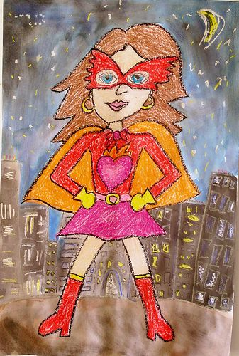 Yep, that is my super hero alter ego right there! Super Hero Self-Portraits