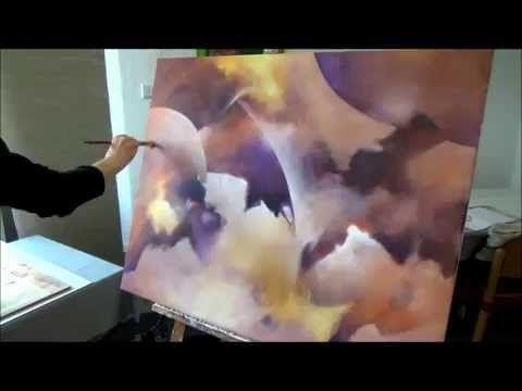 Abstract landscape / lightning, Abstrakte Landschaft / Blitz, 1 - YouTube